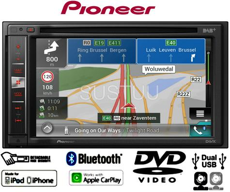 "Pioneer AVIC-F980DAB Car Stereo 6.2"" Bluetooth CarPlay SatNav DAB+Radio/CD /DVD Thumbnail 1"