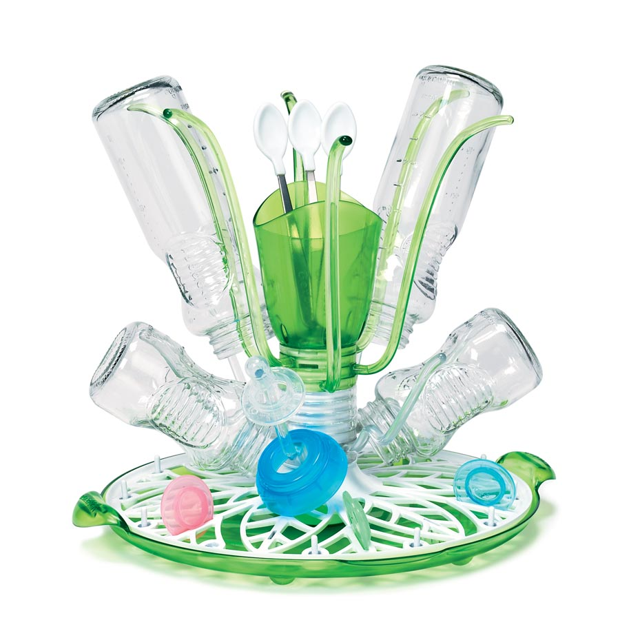 munchkin sprout baby fomula bottle accessories drying cleaning rack organiser sustuu