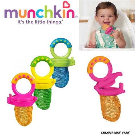 Munchkin Baby Easy Grip And Fresh Food Squeezer Nibbler Toddler Feeder +6 Months Thumbnail 1