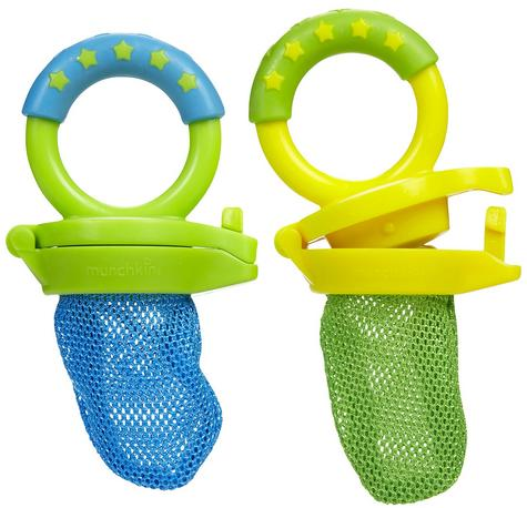 Munchkin Baby Easy Grip And Fresh Food Squeezer Nibbler Toddler Feeder +6 Months Thumbnail 2
