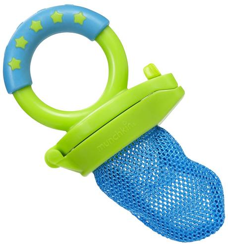 Munchkin Baby Easy Grip And Fresh Food Squeezer Nibbler Toddler Feeder +6 Months Thumbnail 4