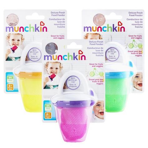Munchkin Safe Easy Deluxe Baby Fresh Food Travel Feeder With Cap BPA Free +6m Thumbnail 6