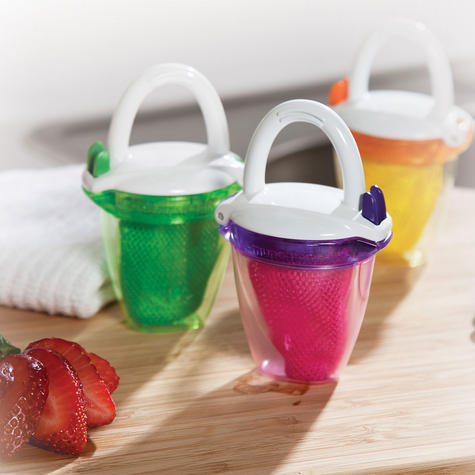 Munchkin Safe Easy Deluxe Baby Fresh Food Travel Feeder With Cap BPA Free +6m Thumbnail 7