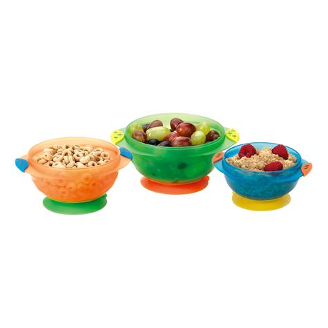 Munchkin Baby Feeding Weaning Non-Spill Stay Put Suction Toddler Bowl Set +6m Thumbnail 3