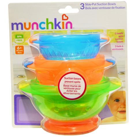 Munchkin Baby Feeding Weaning Non-Spill Stay Put Suction Toddler Bowl Set +6m Thumbnail 6