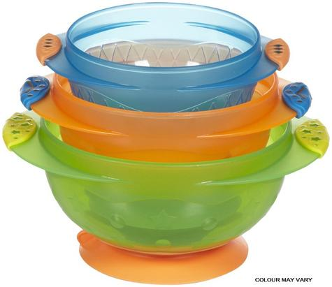Munchkin Baby Feeding Weaning Non-Spill Stay Put Suction Toddler Bowl Set +6m Thumbnail 1