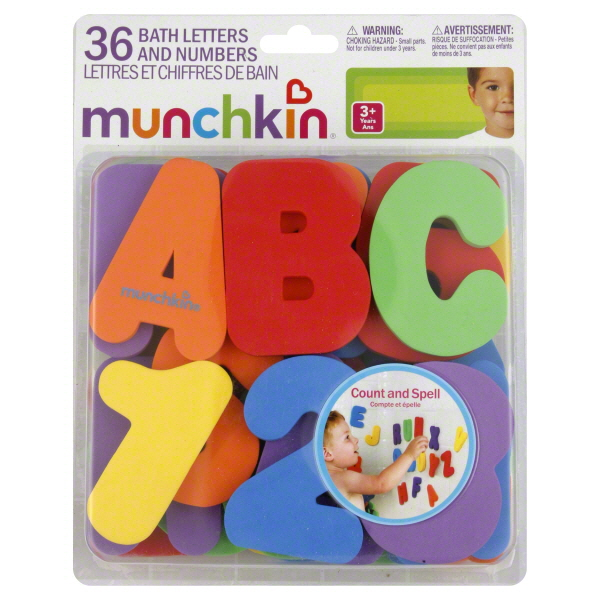 munchkin baby bath time fun learning letters and numbers With bath time letters and numbers
