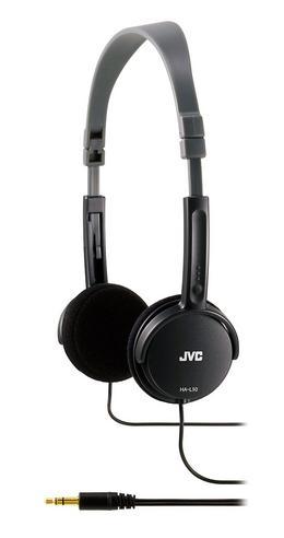 JVC HA-L50 Foldable Light Weight Stereo Over Ear Earphones Headphones - Black Thumbnail 3