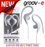 Groov-e Sports Over Ear Earphones for iPhone/iPod/MP3/Android Smartphones WHITE