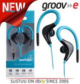 Groov-e Sports Over Ear Earphones for iPhone/iPod/MP3/Android Smartphones BLUE