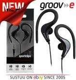 Groov-e Sports Over Ear Earphones for iPhone/iPod/MP3/Android Smartphones BLACK