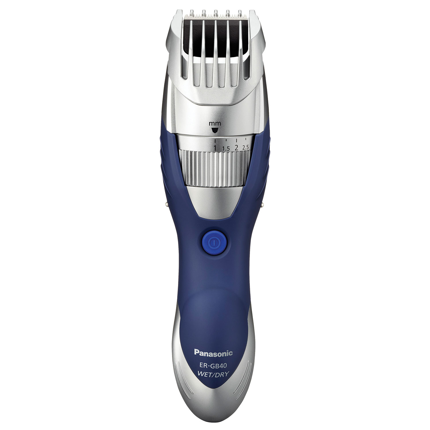 new panasonic mens ergb40s wet dry water washable beard trimmer silver blue ebay. Black Bedroom Furniture Sets. Home Design Ideas