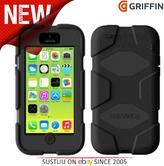 Griffin Iphone 5C Survivor Military Duty Shockproof Case Cover-Black GB38141-2