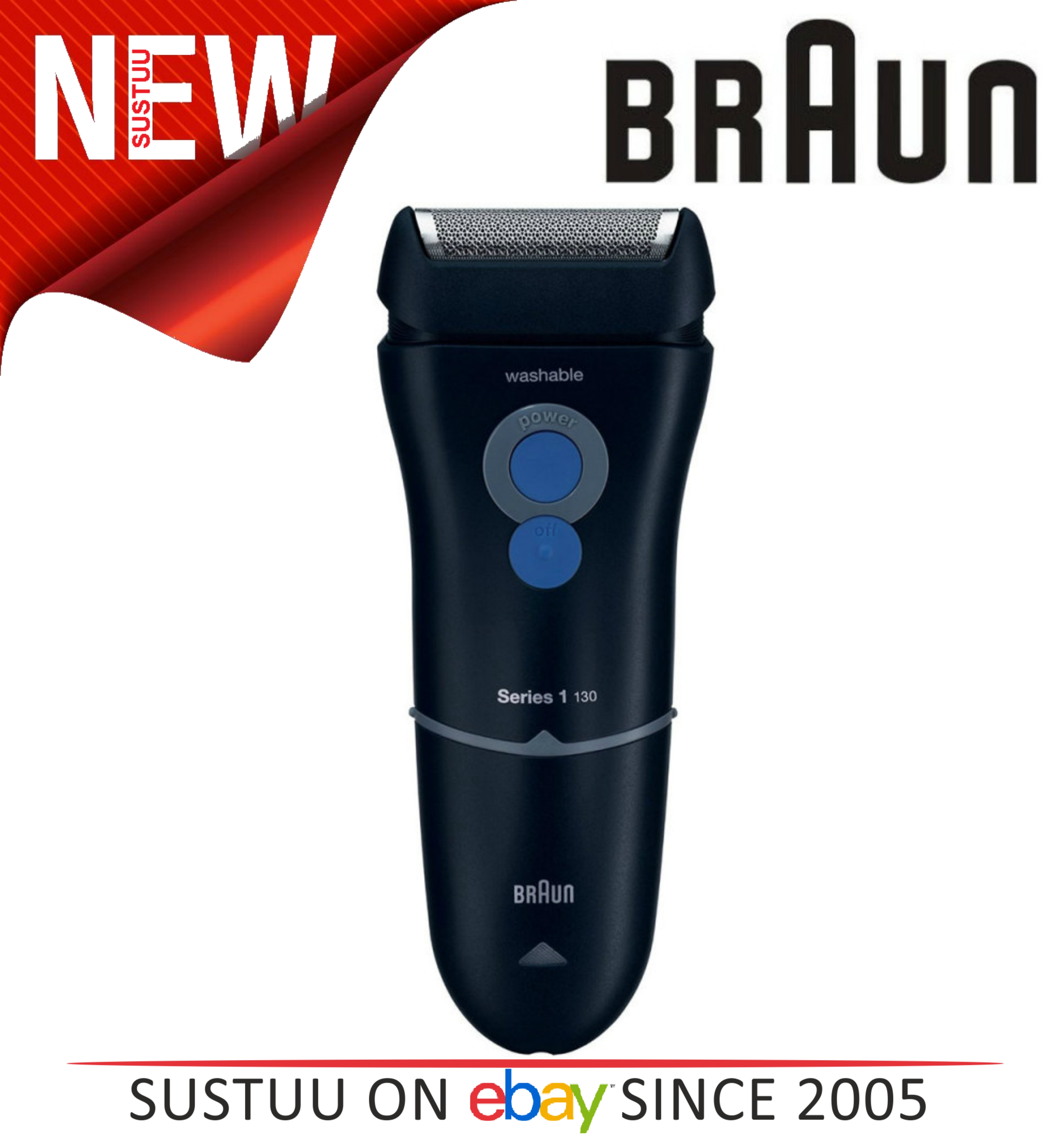 Braun Series 1 130s-1 Mens Electric Mains Washable Trimmer Shaver with SmartFoil
