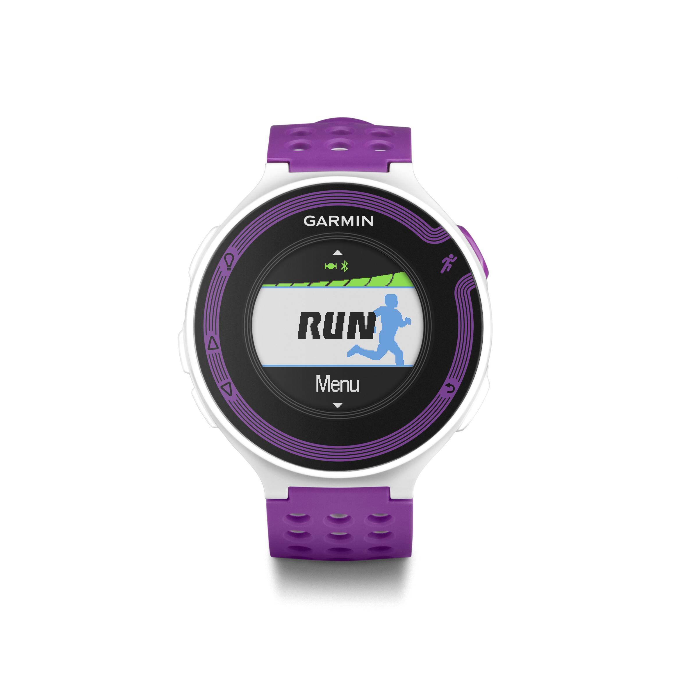 Garmin forerunner 220 white violet gps speed distance running sports watch ebay for Garmin watches