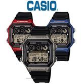Casio Men's AE-1300WH LED World Time Daily Stopwatch Alarm Water Resistant Watch