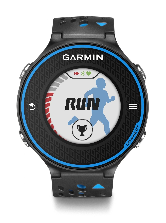 garmin forerunner 620 gps speed distance black blue sports
