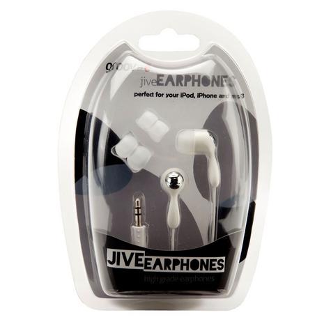 Groov-e Jive WHITE HEADPHONES Earphones for Apple i-Pod TOUCH NANO iPhone NEW Thumbnail 1