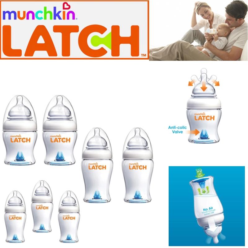 Munchkin Baby Easy Latch Anti-Colic Infant Feeding Milk Bottlel Slow flow