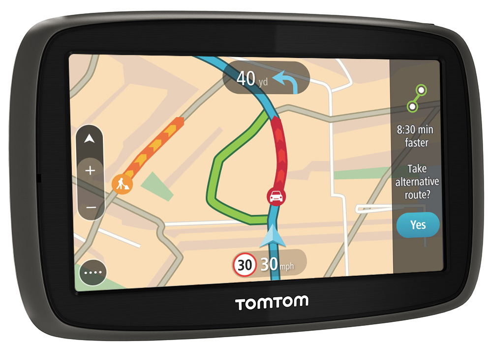 tomtom go 40 gps satnav uk ireland lifetime map updates traffic via phone sustuu. Black Bedroom Furniture Sets. Home Design Ideas