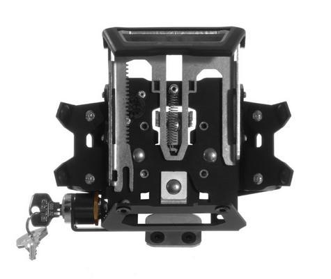 Touratech Lockable Mount For Montana 600 GPS SAT NAV Series Black for Motorbike Thumbnail 2