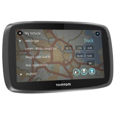 TomTom Trucker 6000 Lifetime Edition  GPS SatNav UK EU Maps-Live Traffic-Cameras Thumbnail 4