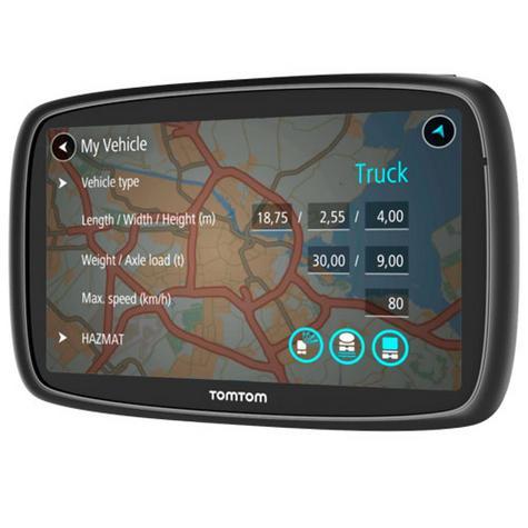 TomTom Trucker 6000 Lifetime Edition  GPS SatNav UK EU Maps-Live Traffic-Cameras Thumbnail 6