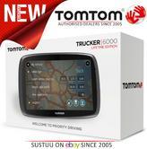 TomTom Trucker 6000 Lifetime Edition  GPS SatNav UK EU Maps-Live Traffic-Cameras