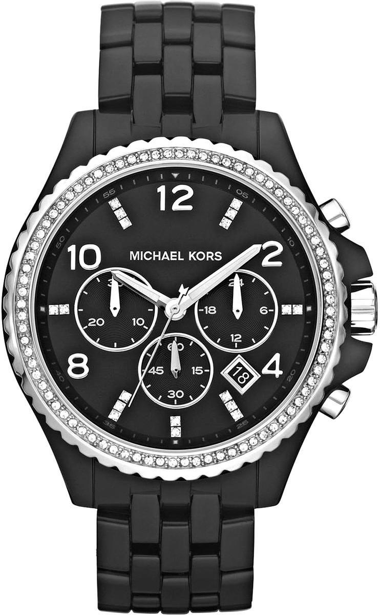 Michael Kors Ladies' Black Ceramic Bracelet Runway ... Michael Kors Watches Black Ceramic