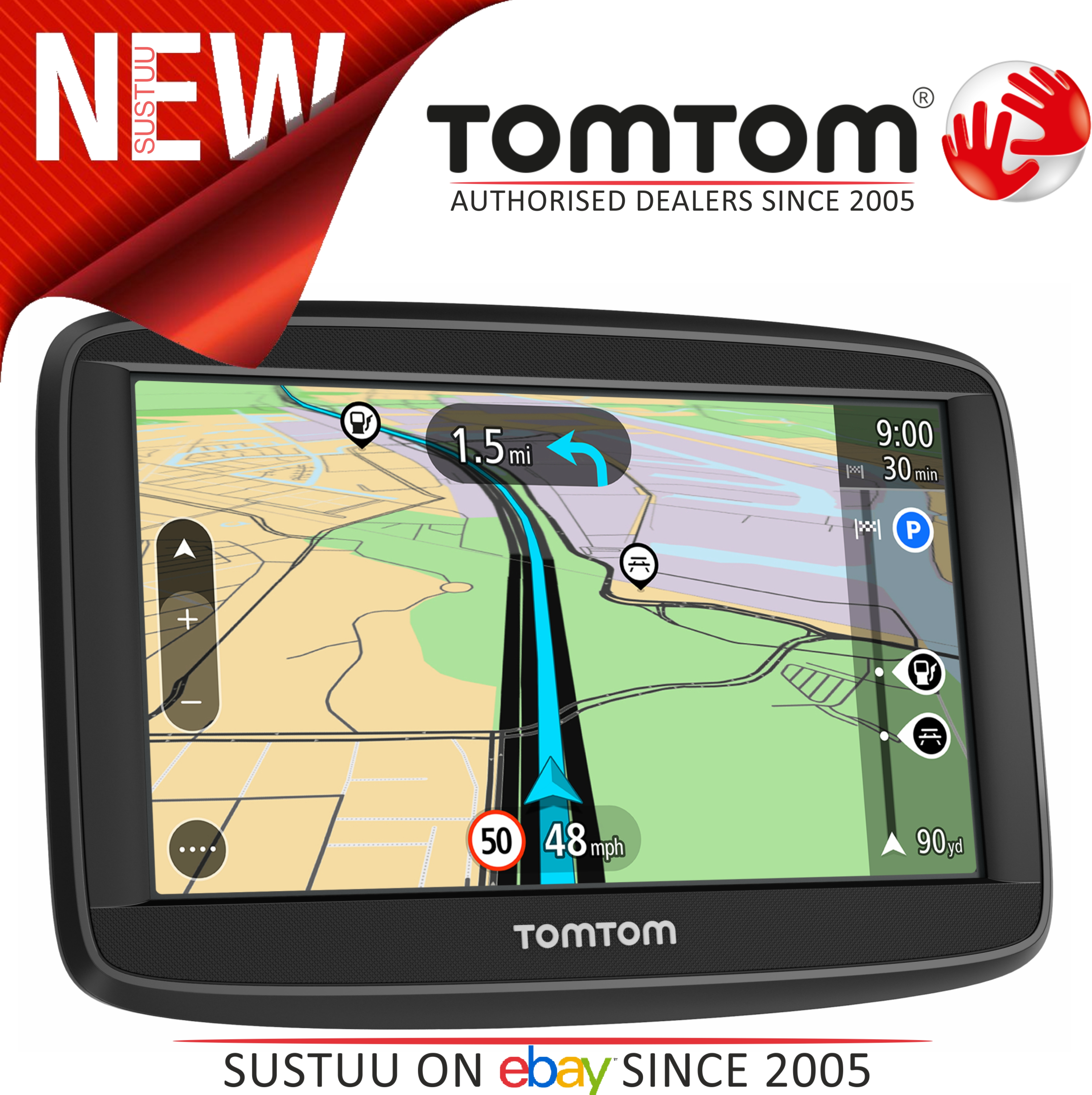 "Tomtom Start 52 5"" GPS SATNAV Free Lifetime UK & Western Europe Maps 1AA5.054.00"