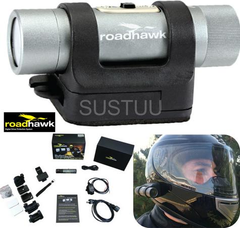 RoadHawk Bullet R+ Moto Edition 1080p HD Motorcycle Helmet camera Black Box NEW Thumbnail 1