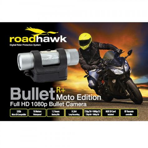 RoadHawk Bullet R+ Moto Edition 1080p HD Motorcycle Helmet camera Black Box NEW Thumbnail 6