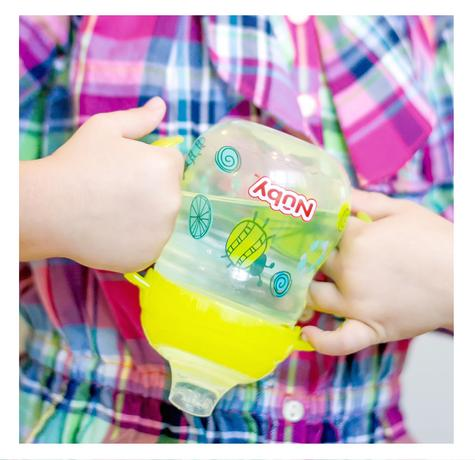 Nuby Baby Design Grip N Sip Toddler Non Spill Silicone Spout Leak Proof 240ml Thumbnail 2