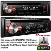 Pioneer DEH 4900DAB Car Stereo DAB/DAB+/RDS USB AUX Apple Control and Android