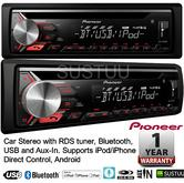 Pioneer DEH-3900BT Car Stereo Bluetooth USB CD MP3 AUX Supports Apple Android