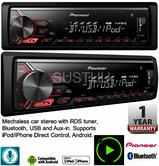 Pioneer Car Stereo with RDS Tuner Bluetooth USB Aux-In for iPod/iPhone Android
