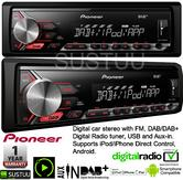 Pioneer MVH 290DAB Car Stereo FM DAB+ Tuner USB AUX Apple Direct Control Android