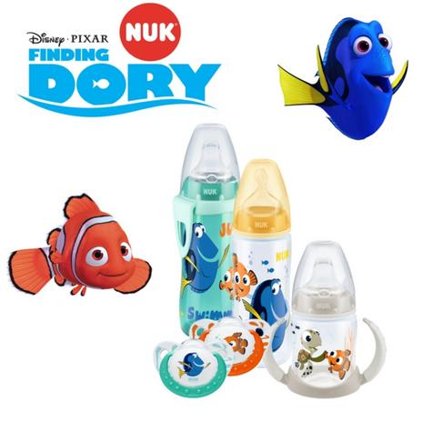 Nuk Disney Finding Dory Baby Soothers, Feeding Bottle, Learner Cup, Active Cup Thumbnail 1