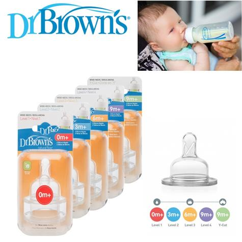 Dr Brown's New Improved Baby Options Orthodontic Silicone Infant Teats 2 Pack  Thumbnail 1
