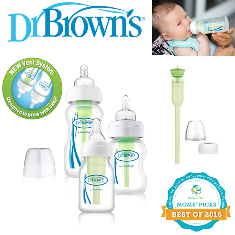 Dr Brown's Options New Improved Baby Anti-Colic Infant Milk Formula Bottle