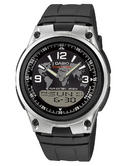 Casio Mens' World Time Digital & Analog Stop Watch 50m Water Resistant AW-80-1A2