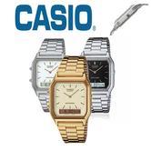Casio Men's Analog & Digital Stainless Steel Alarm Chronograh Stopwatch AQ-230