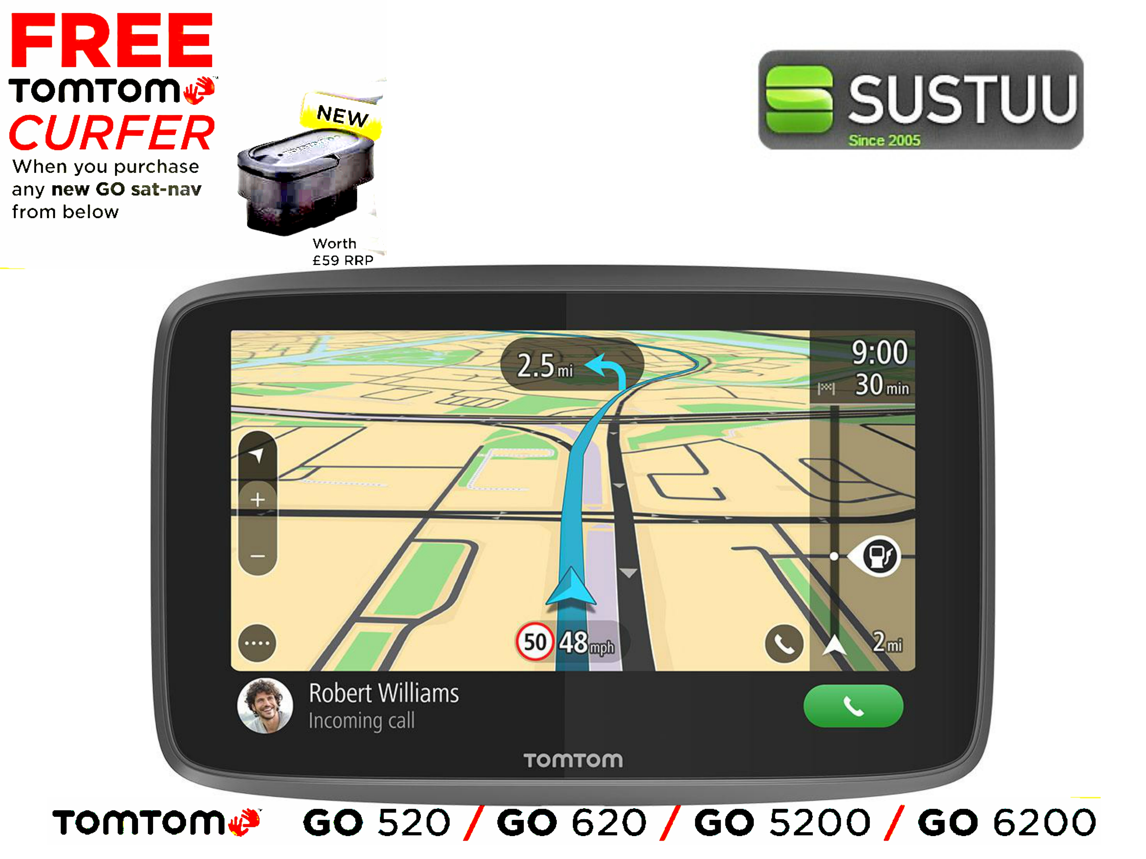 new tomtom go 6200 with wifi lifetime world maps traffic. Black Bedroom Furniture Sets. Home Design Ideas