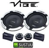 "Vibe Slick 6C V3 6.5"" Car Door Tweeters Crossover Component Speakers System Set"