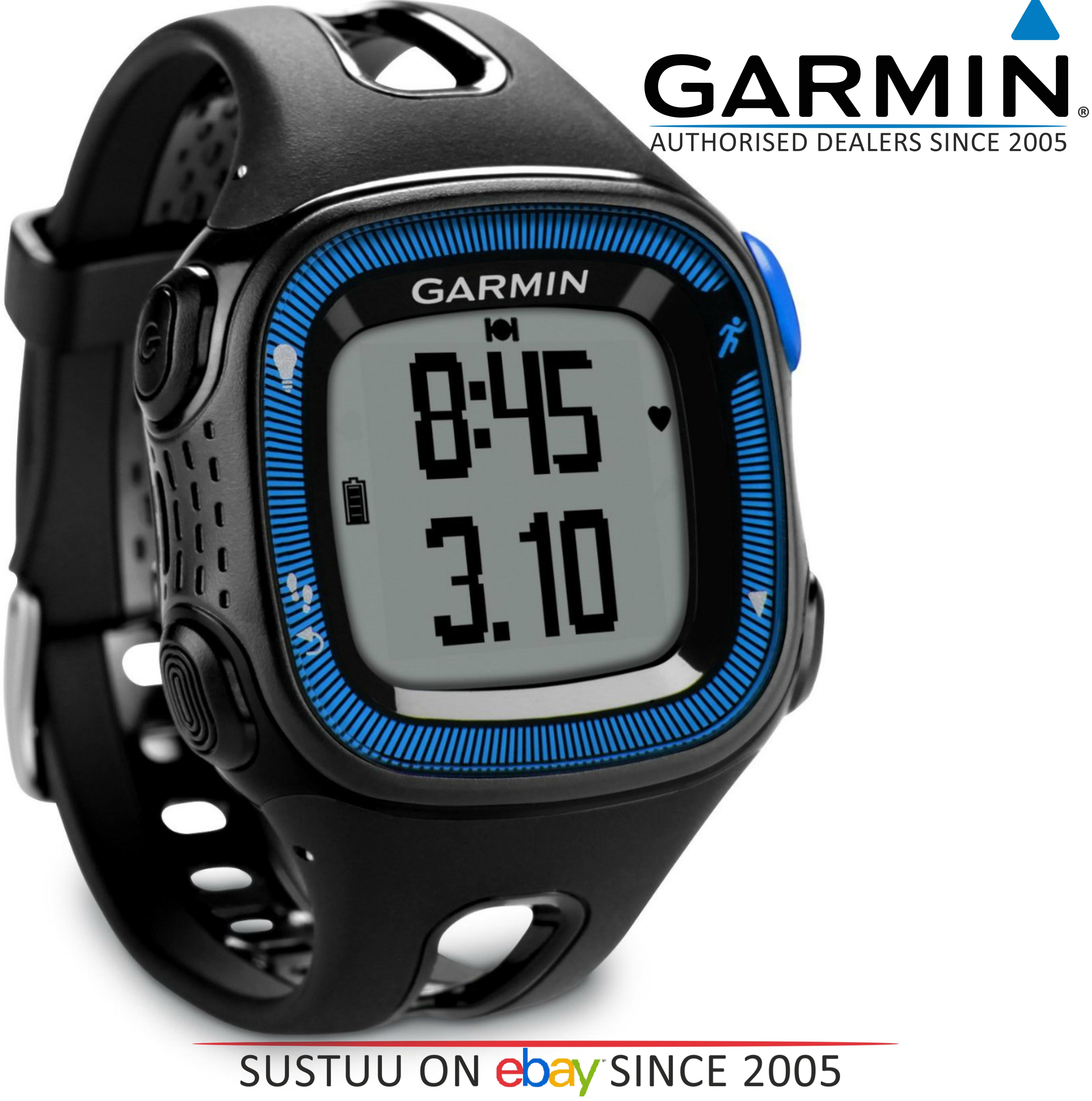 Garmin Forerunner FR15 GPS Speed & Distance Sports Watch Black/Blue Large