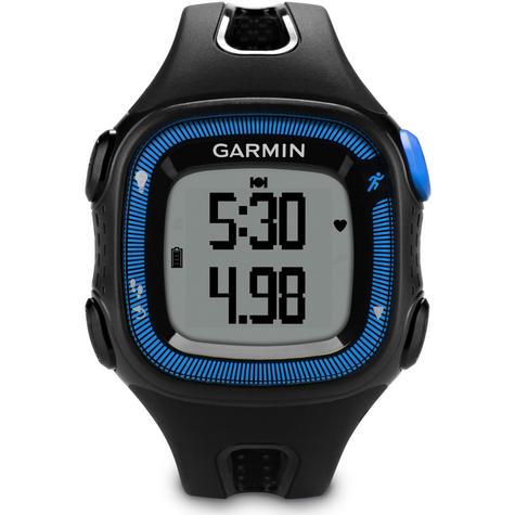 Garmin Forerunner FR15 GPS Speed & Distance Sports Watch Black/Blue Large Thumbnail 6