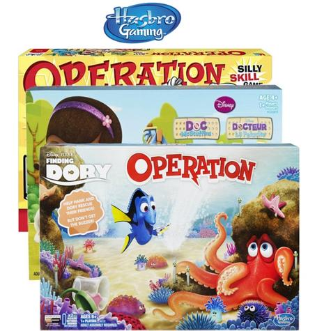 Hasbro Kids Operation Full Family Fun Time Activity 1 Player Children Board Game Thumbnail 1