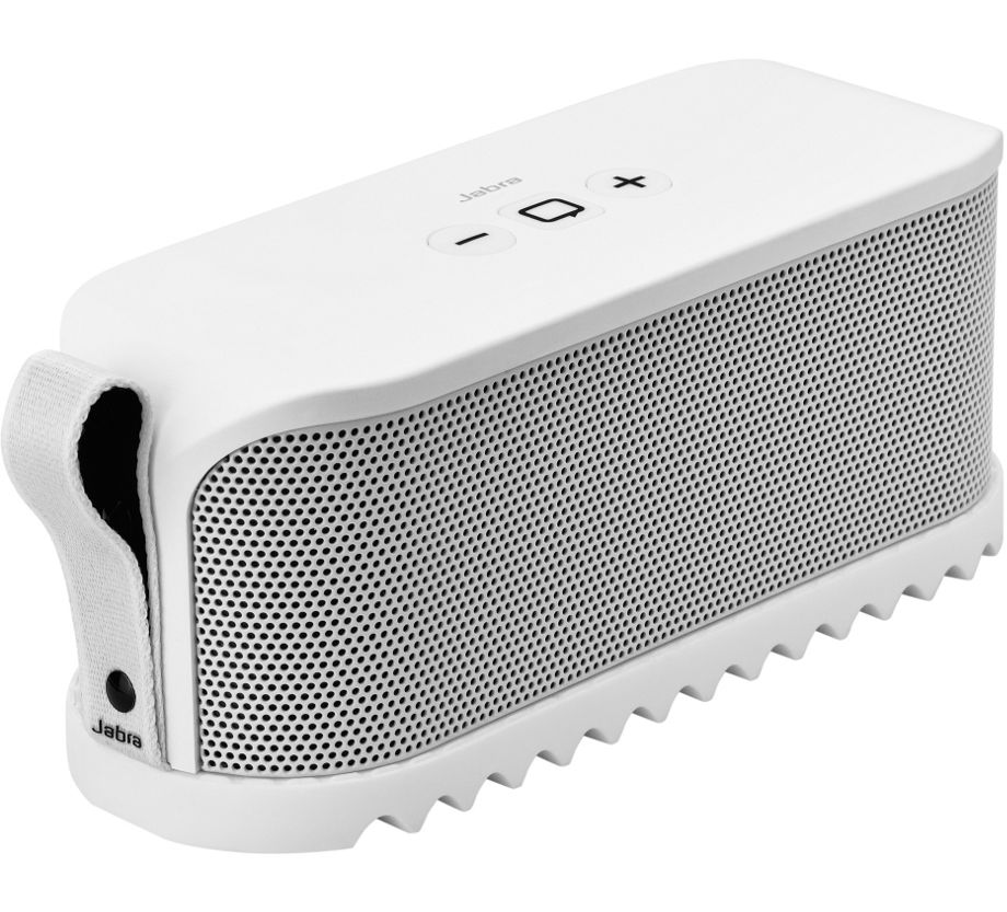 Jabra Solemate Wireless Bluetooth Stereo Portable Speaker White Dolby Digital +