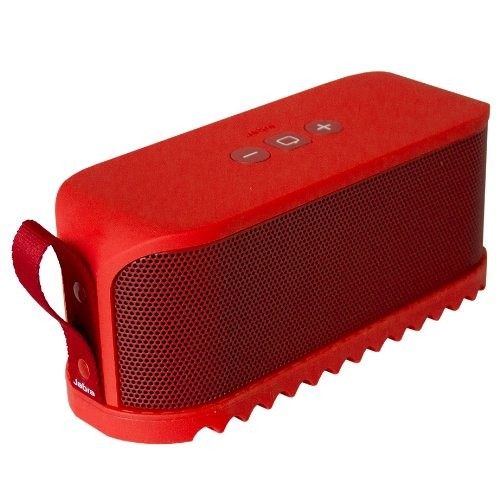 Jabra Solemate Wireless Bluetooth Stereo Portable Speaker Red Dolby Digital +