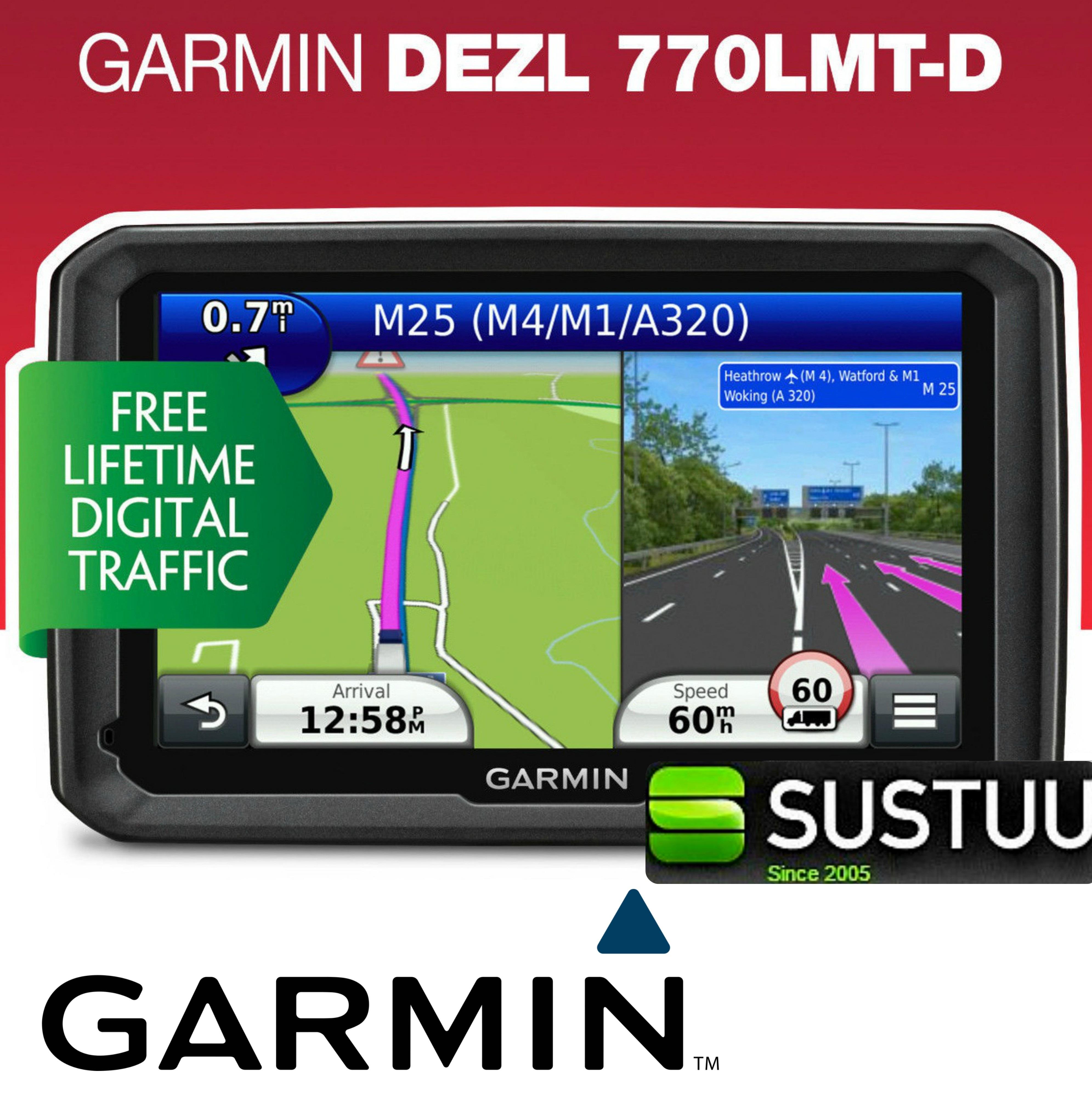 """Garmin DEZL 770 D 7"""" Business Edition Truck HGV GPS SATNAV 3 Yeras Warranty NEW"""